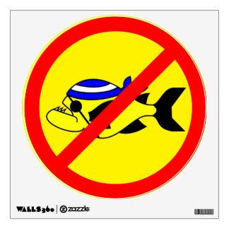 No piranha wall sticker