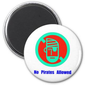 No Pirates Allowed 2 Inch Round Magnet