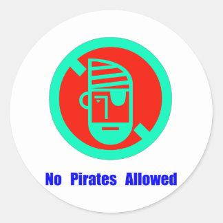 No Pirates Allowed Classic Round Sticker