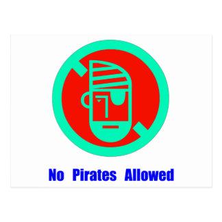 No Pirates Allowed Postcard