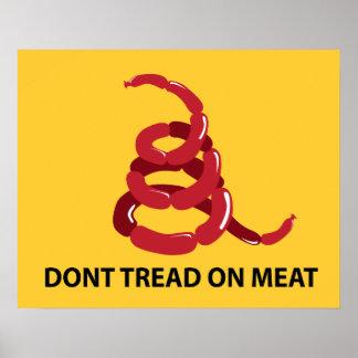 No pise en el poster de la carne