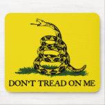 No pise en la bandera de Mí-Gadsden Alfombrilla De Raton