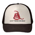 No pise en la carne gorras de camionero