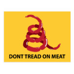 No pise en la carne postales