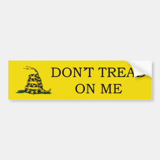 No pise en mí a la pegatina para el parachoques pegatina para auto