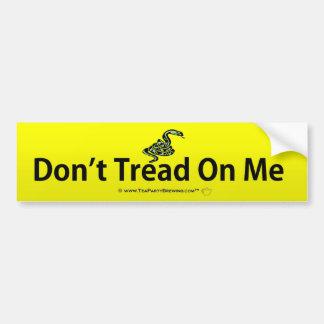 No pise en mí a la pegatina para el parachoques pegatina de parachoque