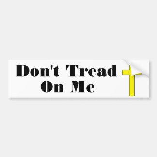 No pise en mí al pegatina religioso cruzado de la  pegatina para auto