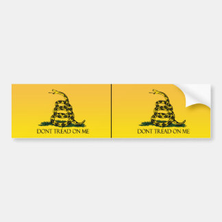 No pise en mí bandera amarilla de la bandera de G Etiqueta De Parachoque