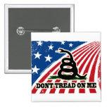 No pise en mí, bandera de Gadsden, azul blanco roj Pin