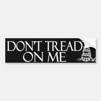 ¡No pise en mí!  Bandera de Gadsden Etiqueta De Parachoque