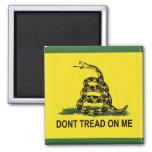 No pise en mí: Bandera de Gadsden Imán Para Frigorifico