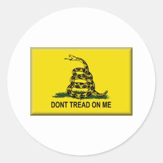 No pise en mí Bandera-Unió estados Etiquetas Redondas