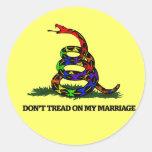 No pise en mi boda etiqueta redonda