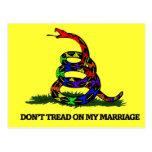 No pise en mi boda postal
