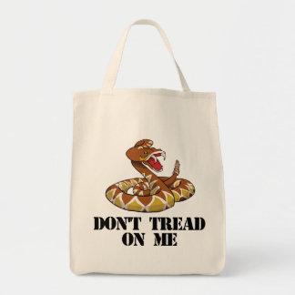 No pise en mí bolsa tela para la compra