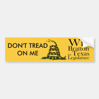 No pise en mí Bratton Etiqueta De Parachoque