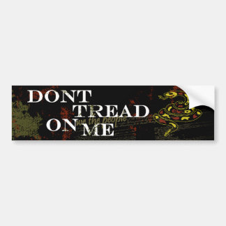 No pise en mí etiqueta de parachoque