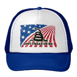 No pise en mí, casquillo patriótico azul blanco gorro de camionero