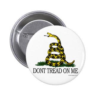 No pise en mí el botón pin redondo de 2 pulgadas