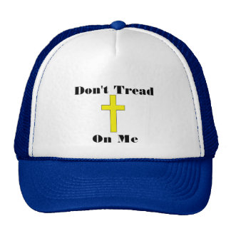 No pise en mí el gorra religioso cruzado de la lib