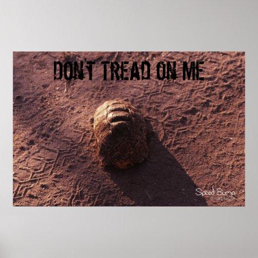 No pise en mí el poster de la foto de la tortuga