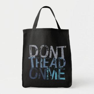 No pise en mí el tote bolsa tela para la compra