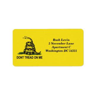 No pise en mí etiquetas de dirección