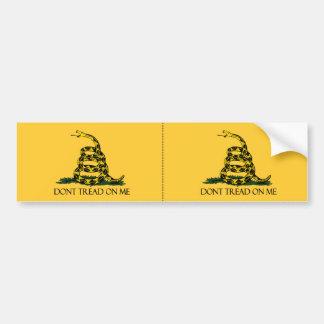No pise en mí, etiqueta amarilla 2 de la bandera d etiqueta de parachoque