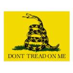 No pise en mí, fiesta del té de la bandera de tarjetas postales