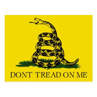 No pise en mí fiesta del té de la bandera de postal