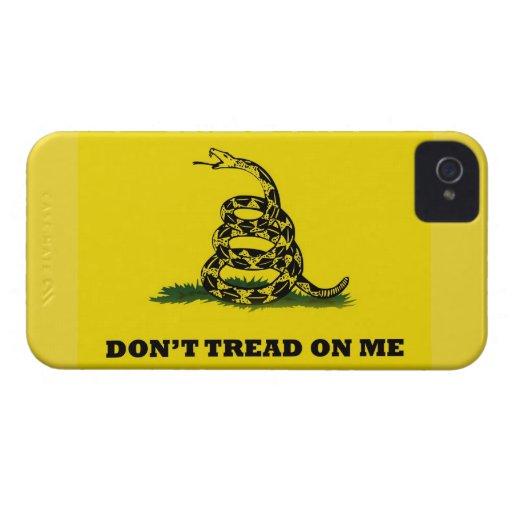 No pise en mí Case-Mate iPhone 4 carcasa