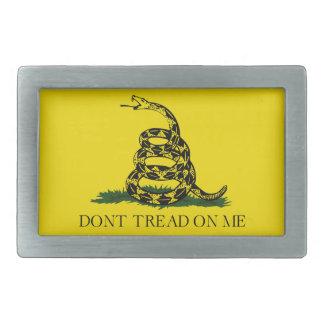 No pise en mí la bandera americana de Gadsden Hebilla Cinturón Rectangular
