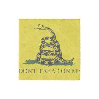 No pise en mí la bandera americana de Gadsden Imán De Piedra