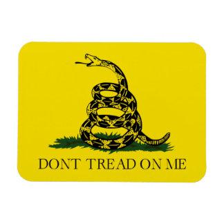 No pise en mí la bandera americana de Gadsden Imanes Flexibles