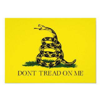 """No pise en mí la bandera americana de Gadsden Invitación 5"""" X 7"""""""
