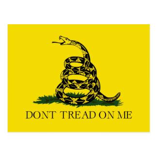 No pise en mí la bandera americana de Gadsden Postales