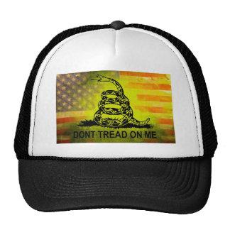 No pise en mí la bandera americana de la bandera d gorros bordados