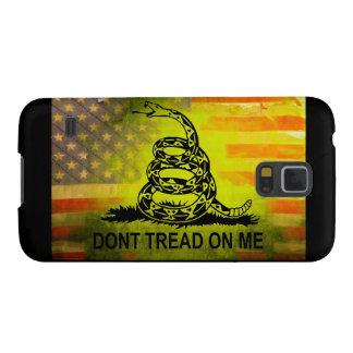 No pise en mí la bandera americana de la bandera carcasas de galaxy s5