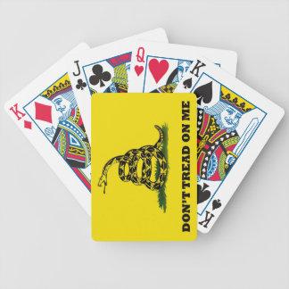 No pise en mí la bandera baraja cartas de poker