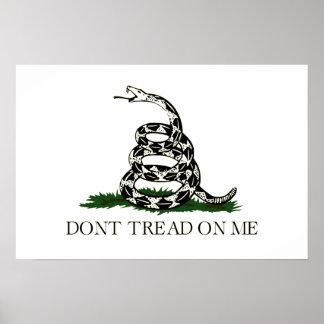 NO PISE EN MÍ, la bandera de Gadsden Poster