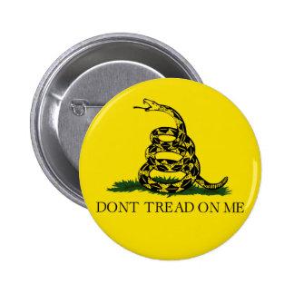 NO PISE EN MÍ, la bandera de Gadsden Pin Redondo De 2 Pulgadas