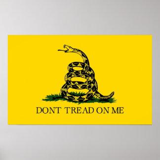 No pise en mí - la bandera de Gadsden Póster