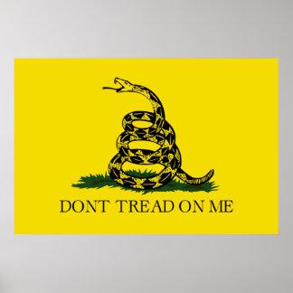NO PISE EN MÍ, la bandera de Gadsden Póster