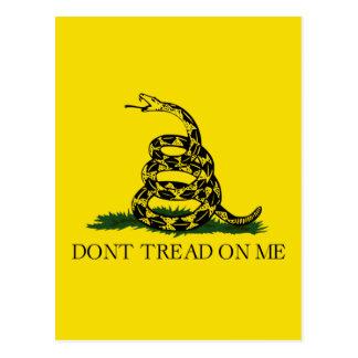 NO PISE EN MÍ, la bandera de Gadsden Tarjetas Postales