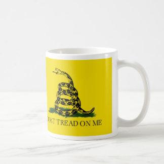 NO PISE EN MÍ, la bandera de Gadsden Taza De Café