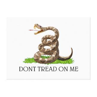 No pise en mí la bandera de la revolución american lona estirada galerias