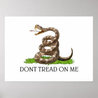 No pise en mí la bandera de la revolución american impresiones