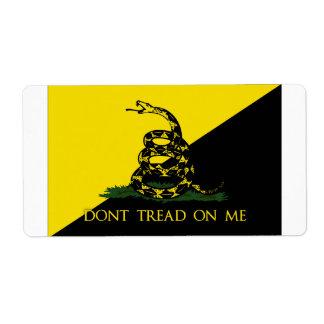 No pise en mí la bandera del anarquista etiquetas de envío