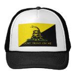 No pise en mí la bandera del anarquista gorras de camionero