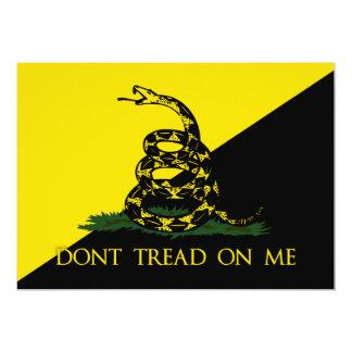 """No pise en mí la bandera del anarquista invitación 5"""" x 7"""""""